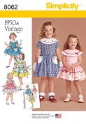8062 Simplicity Pattern: Toddler's and Child's Vintage Style Dress
